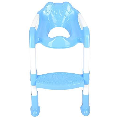 Kinder WC Sitz ,Tragbar Faltbar Kinder Toilettensitz Stuhl,Kinder WC Leiter mit rutschfesten Füße und Doppelarmlehnenentwurf,Töpfchen Trainingssitz für Jungen und Babymädchen geeignet,55x36x40cm