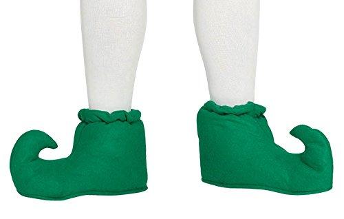 Guirca grüne Elfen Schuhe für Erwachsene Karneval Fasching Elf Fee Märchen grün Schuh