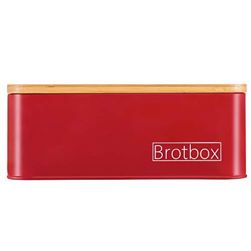 MASTRO HOME Brotkasten - Brotbox - Minimalistisches Design (Rot)