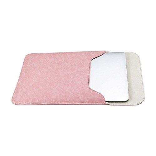 Jia HU 1PU Laptop Sleeve Portfolio Tablet Notebook Case Cover mit Magnet Verschluss Business School rose