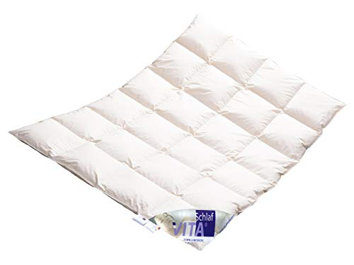 Vita® Schlaf Winter Daunendecke Daunenbett MEGA WARM Premium Decke WILDENTE Made in Germany Since 1947 Größe (135x200cm)