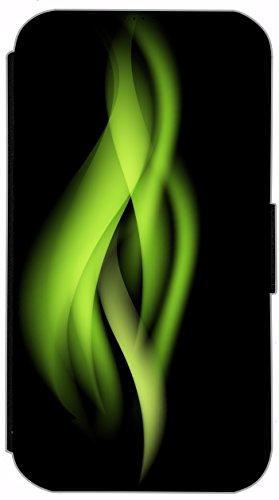 Flip Cover für Apple iPhone 4 / 4s Design 749 Fußball in Flammen Feuer Rot Schwarz Hülle aus Kunst-Leder Handytasche Etui Schutzhülle Case Wallet Buchflip (749) 754
