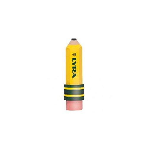 Lyra TEMAGRAPH gelb mit Radiergummi–Radiergummis, (gelb, 20mm, 20mm, 70mm)
