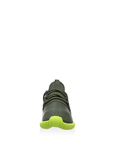 adidas Tubular Radial Sneaker olive grün - neon grün (shadow green/shadow green/semi solar yellow)