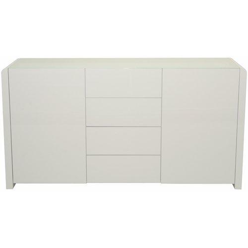 Phoenix 158824WE Sideboard, Holz, weiß Hochglanz, 45 x 150,1 x 78,8 cm