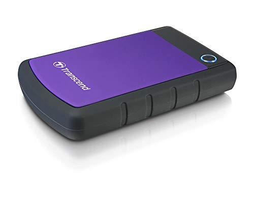 Transcend StoreJet 25H3 - Disco duro externo de 2 TB (resistente a impactos, 2.5', USB 3.0), morado
