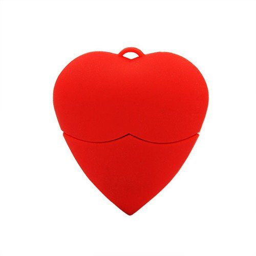 Love diseño de corazón usb flash drive 16gb