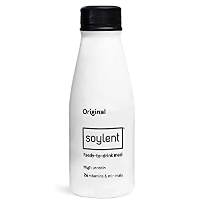 Soylent Meal Replacement Drink, Original - 414 mL Bottles, 12 Pack