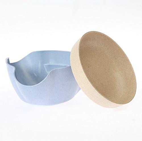 Pucidder Frucht Nuss Speicher Platten Doppelschicht Weizen Stroh Haushalts Kreativer Doppelt-Zweck Umweltsmäßig Geschützter Snack-Teller Olive Nut-Server-Servierschüssel (Color : Blue) -