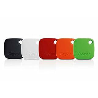 Gigaset G-tag Beacon im Set mit Appfunktion - Bluetooth Schlüsselfinder zum einfachen Auffinden von Schlüssel, Taschen, Koffern, Handys - Key Tracker - 5 Stück rot, orange, grün, schwarz, weiß