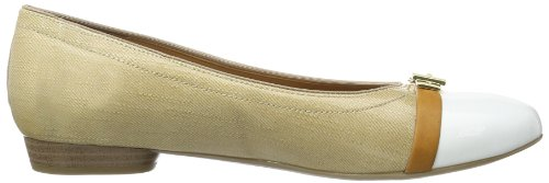 Jenny Pisa, Ballerines Femme Or (Weiss,Saddle/Cotton 13)