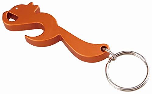 hänger Eichhörnchen-Anhänger Figur Flaschenöffner, Orange, 34163 ()