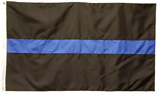 Betsy Ross Ameriflagge, 61 x 91 cm Dünne Blaue Line Flagge, gestreift, 200 Denier Nylon -