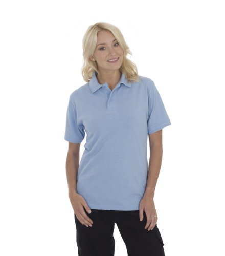 Ultimate Clothing Collection Damen Poloshirt Blau - Himmelblau