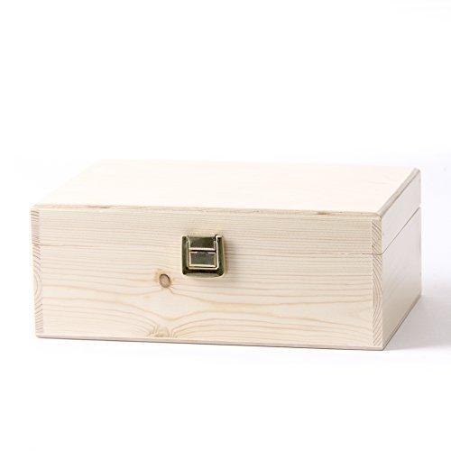 Momente Aromatherapie (Mystic Moments Holz Aromatherapie Geschenk-Box - (Leer Kann 24 x 10 ml Glasflaschen Halten))