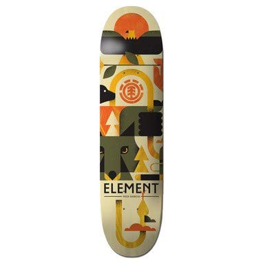 Element Skateboard Deck Forester Garcia - 8 Inch Gris-Amarillo (Default d82284f7370