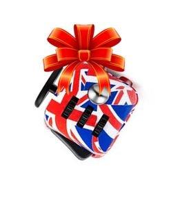 Be Squared De-Stress Ball y Cubo de Ansiedad - Juguete Sensorial para Adultos y Niños (Union Jack)