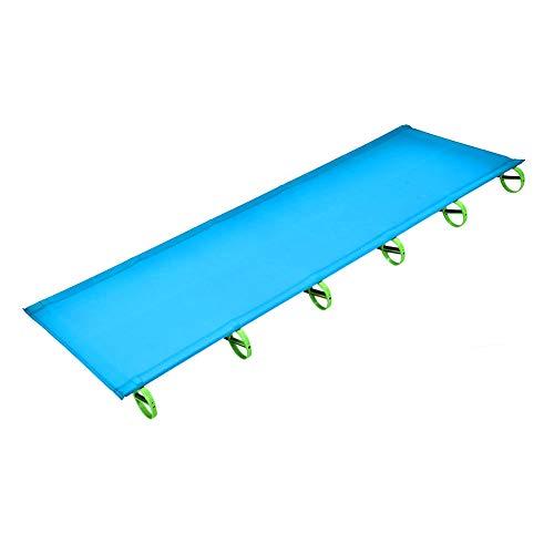 Cocoarm Ultraleichtes Feldbett Campingbett Aluminium für Indoor Outdoor Camping Wandern Angeln Camping belastbar bis 120 kg, 181 x 87 x 12cm (Blau)