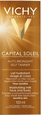 Gradual Tanner (Vichy Capital Soleil Self Tanner Face and Body Moisturising Milk 100ml)