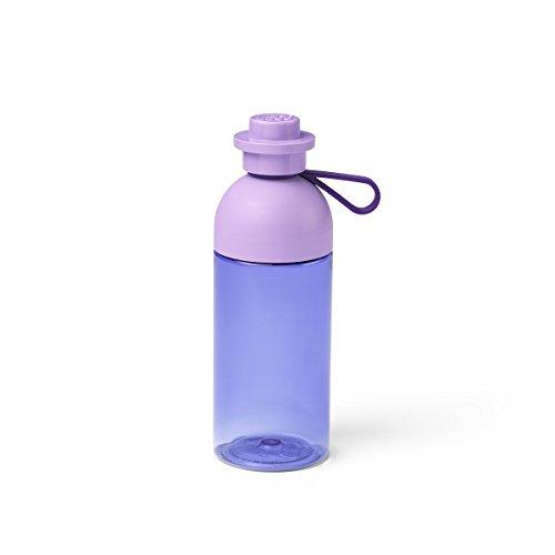 LEGO 40420004 Trinkflasche, durchsichtige Trink-/Sportflasche, 500 ml zum Befüllen mit EIS, Lavendel