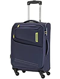American Tourister Denton Polyester 57 cms Blue Softsided Cabin Luggage (FK9 (0) 01 001)