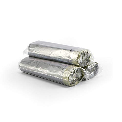 Sacchetti della spazzatura in plastica extra resistenti, 65 x 55 cm, 5 rotoli
