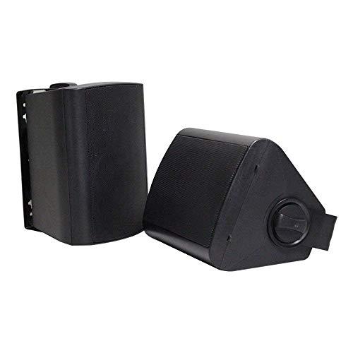 Herdio 4 Zoll Bluetooth Wasserdicht Außenlautsprecher Outdoor-Lautsprecher für Garten, Terrasse, Restaurant (200 Watt) schwarz