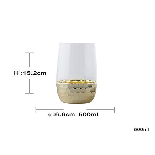 Exquisite Glasblume Glas Tassen Tee Neuheit Saft Gläser Weingläser Party Bar Prost Kunst , Gold , Groß