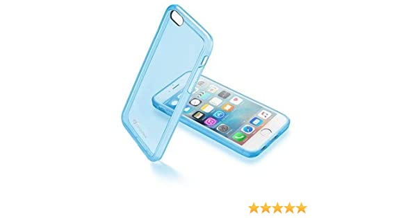 Cellularline Clear Color Smartphone Cover Case for Apple iPhone 66S, Transparent Case Blue