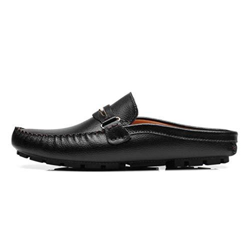 YaXuan Herren Leder Frühjahr/Sommer Komfort Clogs & Mules Loafers, Fahr Schuhe Daily/Office Lazy Schuhe
