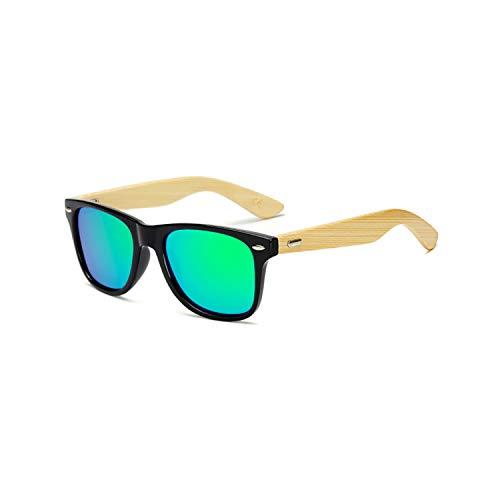 FGRYGF-eyewear2 Sport-Sonnenbrillen, Vintage Sonnenbrillen, Polarisiert Protection Wood Man Hot Cool Rivets Original Bamboo Brand Designer Sunglasses Rays Women Sport Sun Glasses Black Green