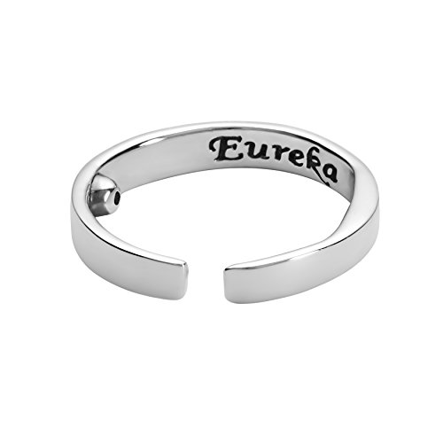 Eureka Akurpressur Ring Sterling Silber-925 gegen Schnarchen (Small)