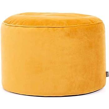 Large Living Room Footstool Bean Bags Ochre Yellow Square Bean Bag Pouffe 40cm x 24cm 2 Pack icon Milano Velvet Footstool