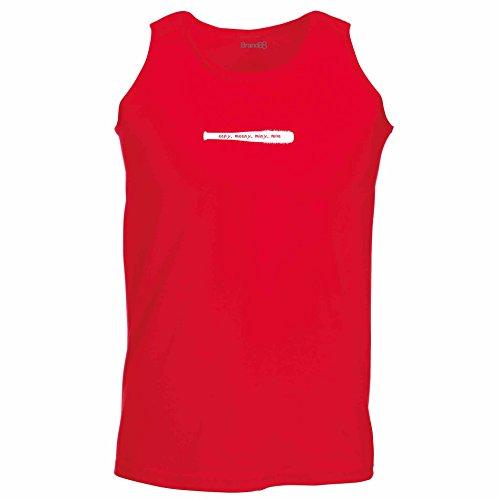 Brand88 - Eeny, Meeny, Miny, Moe, Unisex Athletic Weste Rot
