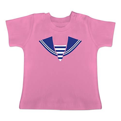 g Baby - Matrose Kostüm Kragen - 1-3 Monate - Pink - BZ02 - Baby T-Shirt Kurzarm ()