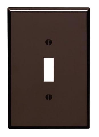 Single Plastic Oversized Switch Wall Plate-BRN 1-TOGGLE WALL PLATE