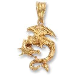 LIOR - Pendentif Dragon - Or jaune 750/1000 (18 carats)