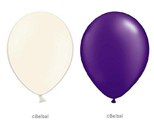 Lila Belbal® Luftballons–30,5cm Zoll–Party/Events/Hochzeit/Geburtstag–Latex für Helium Oder Luft geeignet (Lila Und Creme-hochzeit)