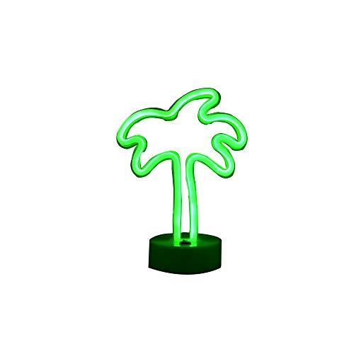 Kokospalme Leuchtreklamen, LED Neonlicht-Zeichen mit Halter Basis für Party, Tischdekoration, saisonale Inneneinrichtungen Kinder Kinder Geschenke (Palme mit Halter)