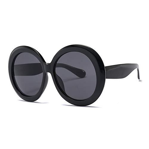 New new fashion runde sonnenbrille frauen 2019 vintage brand designer schwarz grün übergroßen rahmen spiegel shades weibliche uv400, c6 ()