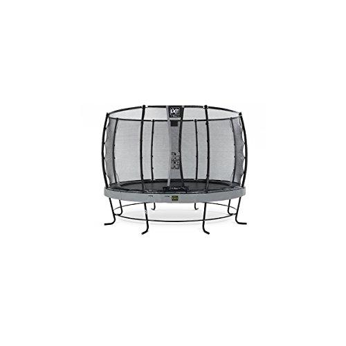 EXIT Trampolin Elegant Premium Ø 366 cm grau mit Netz Deluxe 08.20.12.40