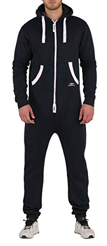 Finchman FJ3 Herren Jumpsuit Jogging Anzug Trainingsanzug Overall Navy - Geil O Kostüm