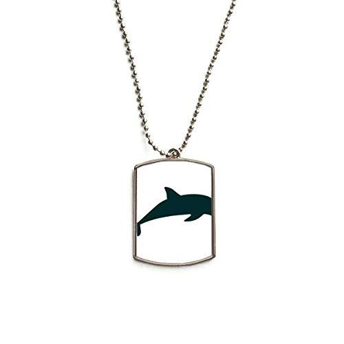 hänger Edelstahl Blau Ocean Streamline Schwimmender Delfin ()