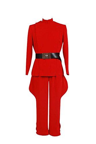 Fuman Star Wars imperialen Offizier Rote Uniform Kostüm für Erwachsene Maßanfertigung (Einen Imperialen Offizier Kostüme)