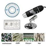 50-500X 2MP USB 8 LED Light Digital Microscope Endoscope Camera Magnifier zoom