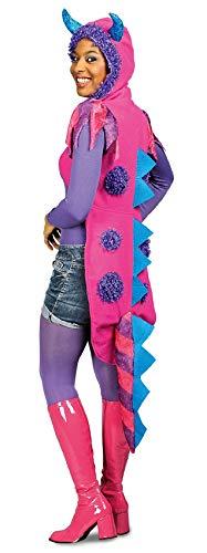 K35295603-S-A pink-lila Damen Monsterweste Drachenkostüm Gr.S (Schnappi Kostüm)