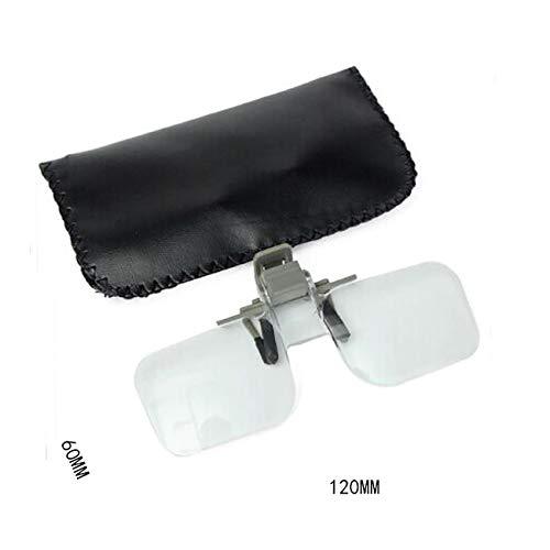 Fannty Acryl Klappbrille Clip auf Lupe Flip Loupe Glas Freisprecheinrichtung -
