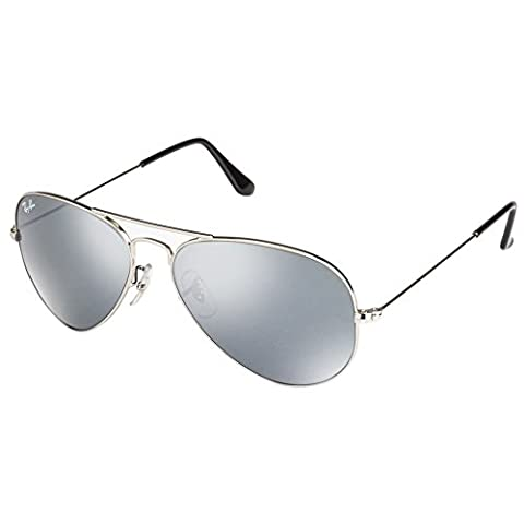 Ray-Ban RB3025-W3275 Large Metal Aviator RB 3025 W3275 Aviator Sunglasses, Silver (Silber)