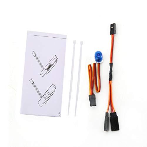 Kongqiabona RC Auto Strobe Blinklicht Oval Blau Rot Orange Scale Light Kit Für Rc Modellauto Ersatz Zubehör Standard-strobe Light