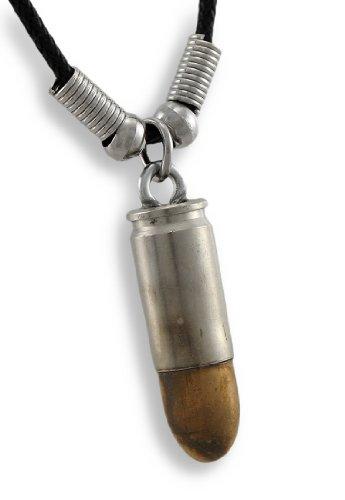 9mm Luger Bullet silber/bronze Halskette Guns Munition Reproduktion - Schmuck Munition Gun